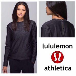 Lululemon Black Floral Pullover w/ Back Zipper